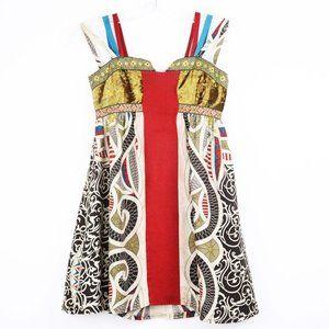 Nicole Miller Collection Silk Velvet Boho Top